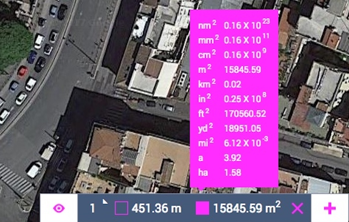 Area of the Colosseum in both metric and imperial systems using Land Area Calculator