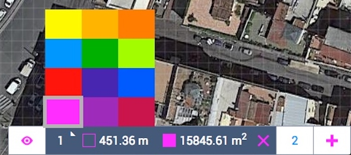 Drawing Layer colors Land Area Calculator